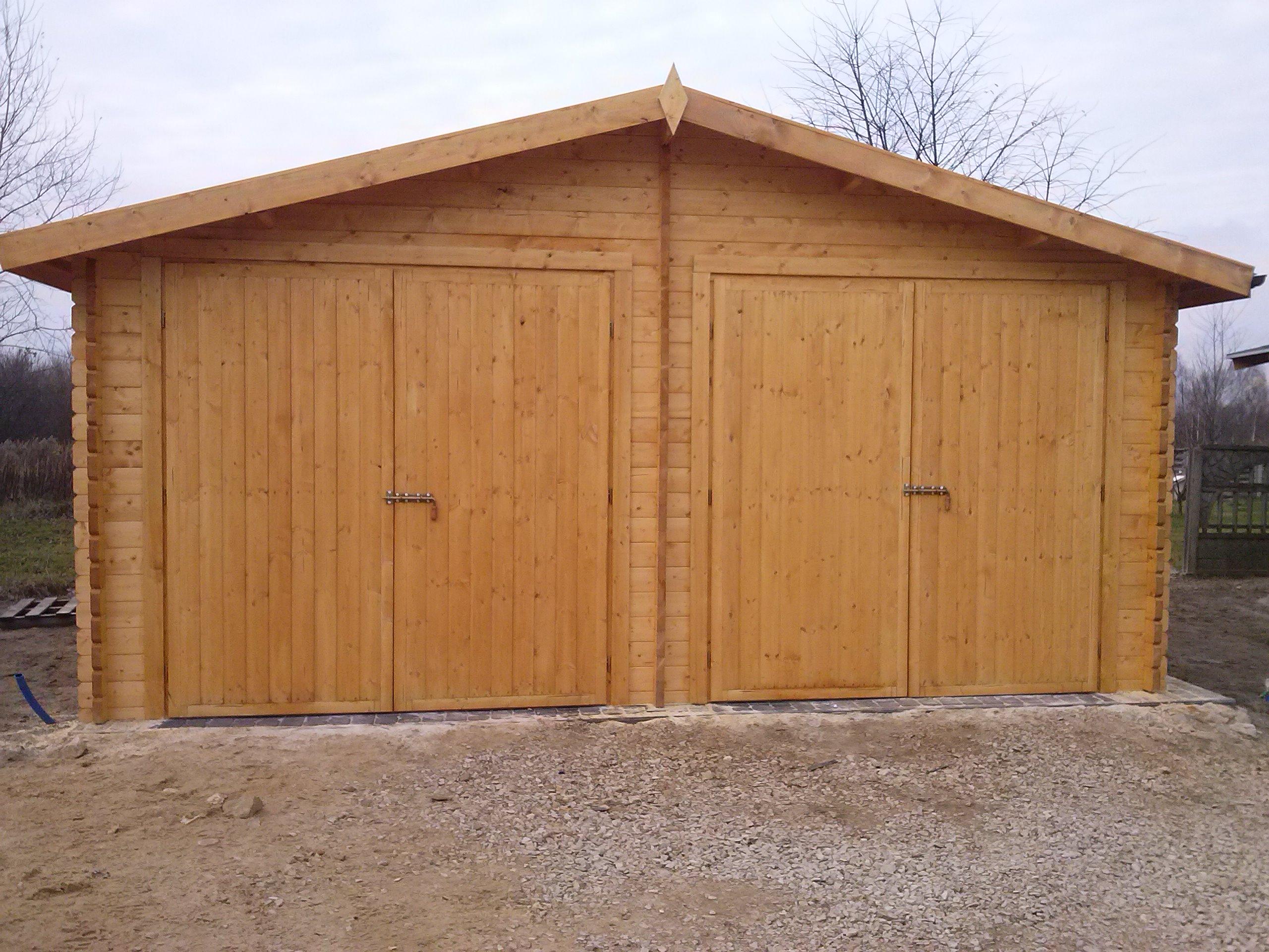 Drevená garáž E 1