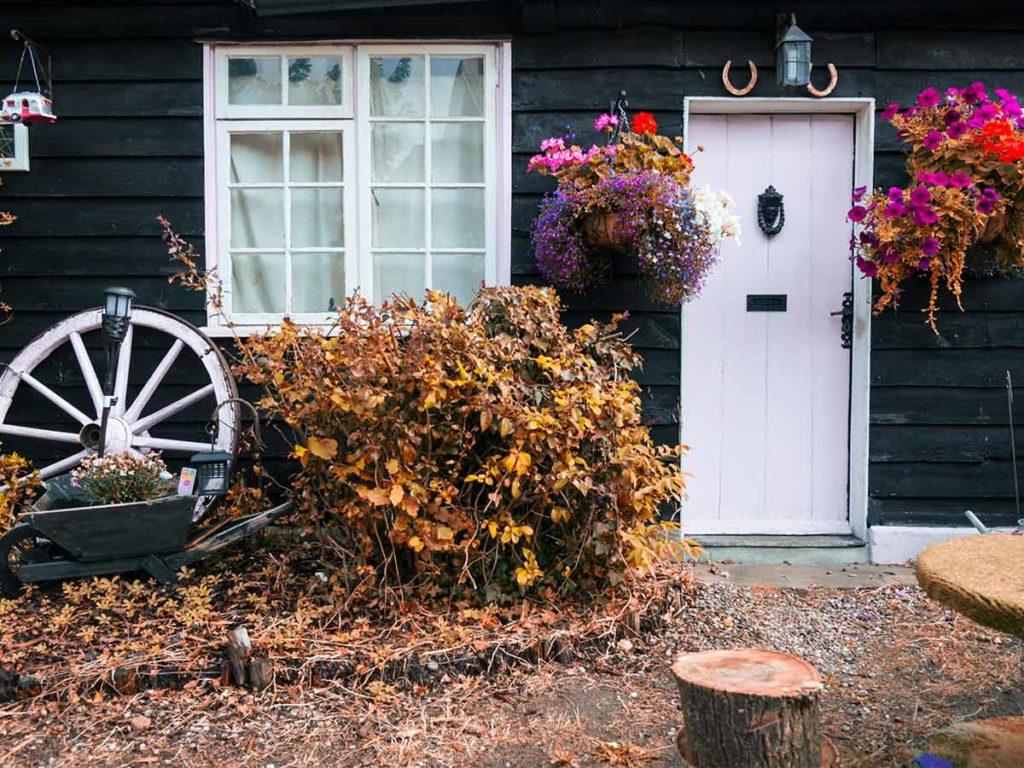 jesenní chatka