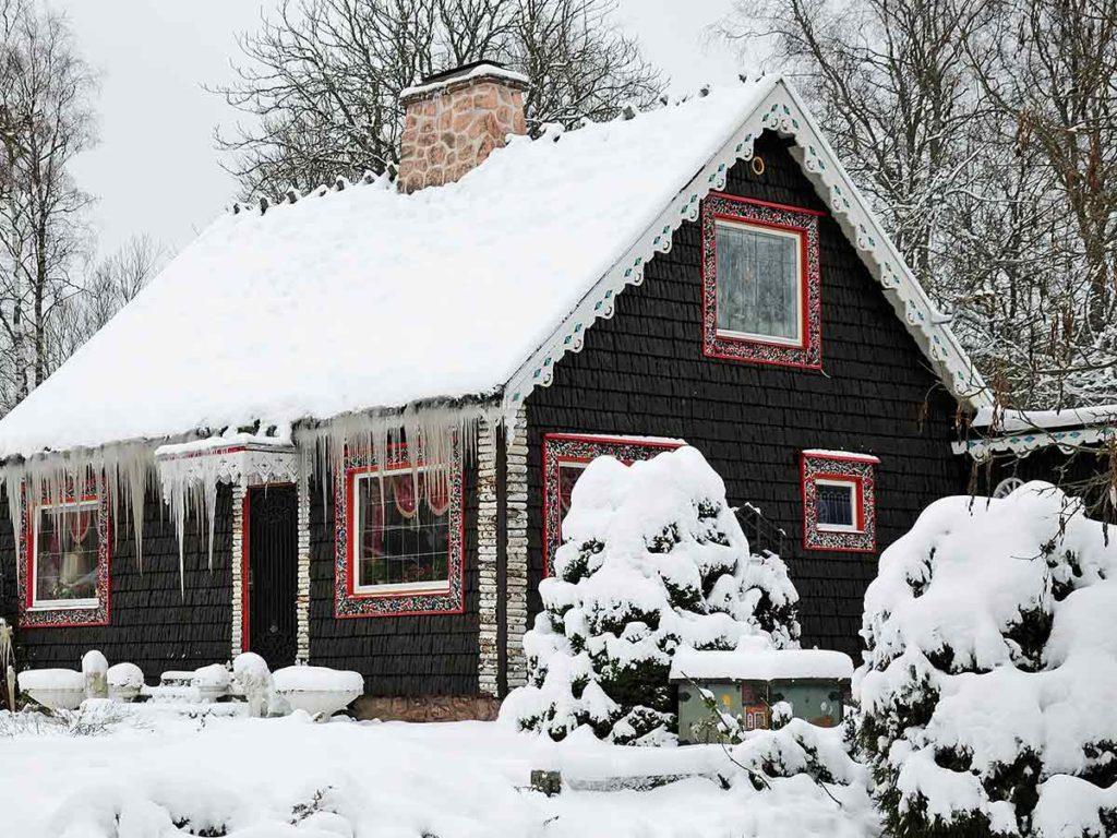 Dřevěný zahradní chatka