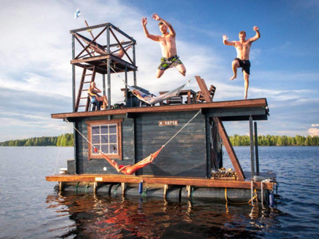 plujíci sauna