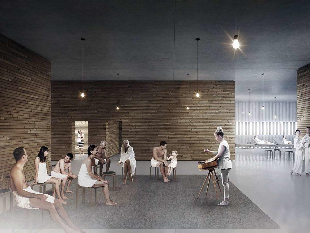 prostranná sauna