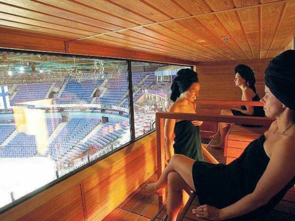 sauna na stadionu