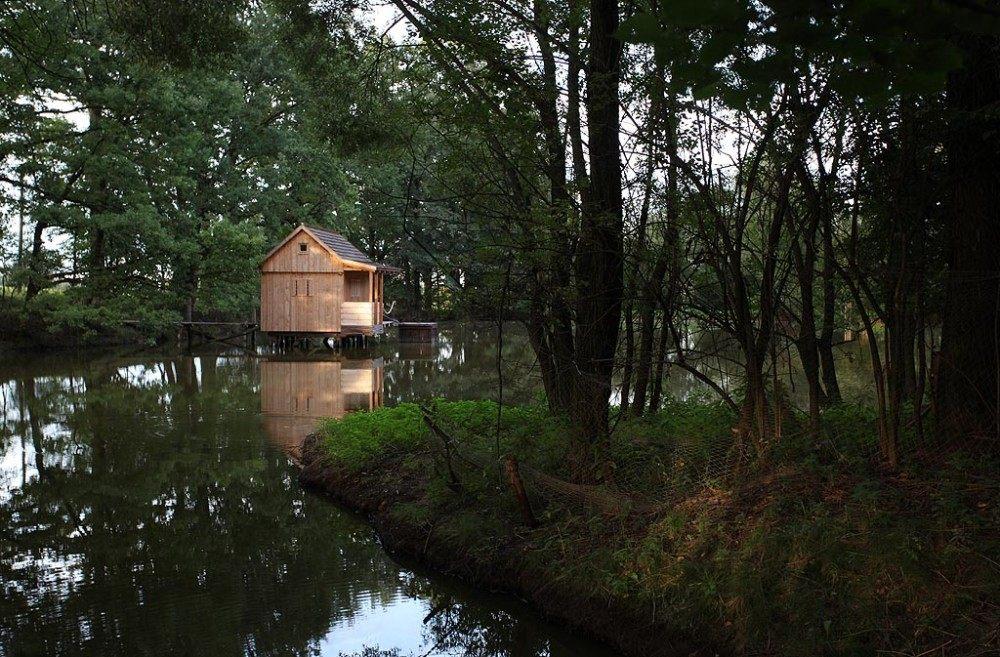 sauna rybník