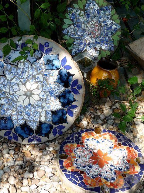mozaikové zahradní dekorace